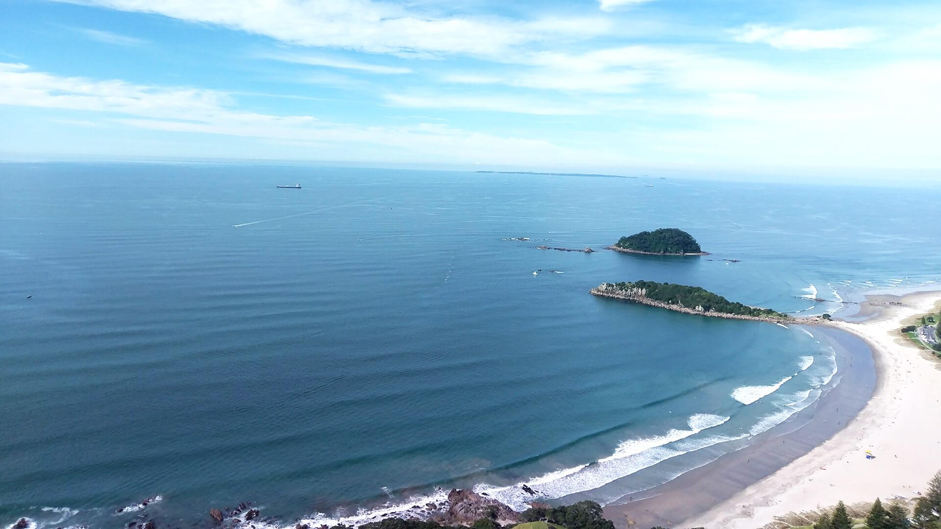 De stranden van Nieuw-Zeeland